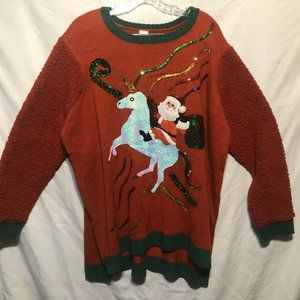 Holiday Time Womens Ugly Christmas Sweater Size 2X